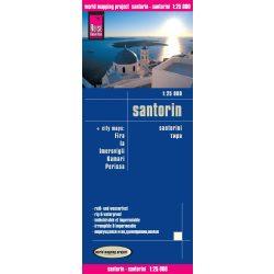 Santorini térkép Reise 1:25 000  Szantorini térkép 2016
