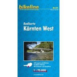 Nyugat-Karintia kerékpáros térkép - Radkarte Kärnten West