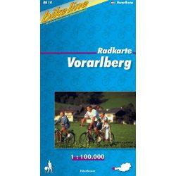 Vorarlberg kerékpár térkép