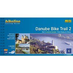 2. Danube Bike Trail Duna kerékpáros atlasz Esterbauer 2. szakasz 1:50 000 Duna kerékpáros térkép