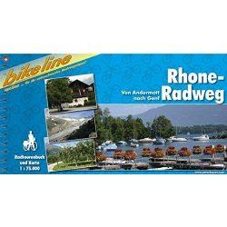 Rhone Radweg kerékpáros atlasz Esterbauer 1:75 000  Rhone kerékpáros térkép