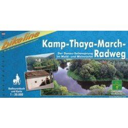 Kamp-Thaya-March kerékpáros atlasz spirál 1 : 50 000 Kamp kerékpáros térkép