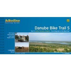 5. Danube Bike Trail kerékpáros atlasz Esterbauer 1:100 000  2015  Duna kerékpáros térkép