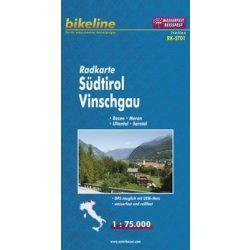 Dél-Tirol - Vinschgau kerékpáros térkép 1:75 000