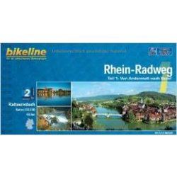 1. Rhein-Radweg kerékpáros atlasz Esterbauer 1:75 000  Rhein kerékpáros térkép
