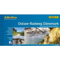 Ostsee-Radweg Dänemark kerékpáros térkép Esterbauer 1:75 000, Balti kerékpárút Dánia kerékpáros térkép