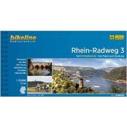 3. Rhein-Radweg kerékpáros atlasz Esterbauer 1:75 000   Rhein kerékpáros térkép