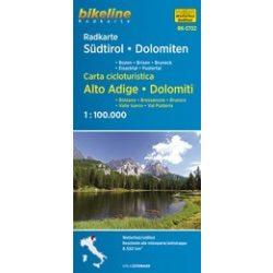 Südtirol, Déltirol, Dolomitok kerékpáros térkép Esterbauer 1:100 000   2016  Dél-Tirol kerékpáros térkép