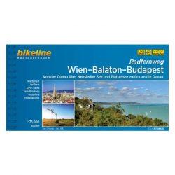 Bécs-Balaton-Budapest kerékpárkalauz, Bécs-Budapest kerékpáros térkép Esterbauer 1:75 000 2018