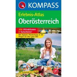 593. Oberösterreich, Erlebnisatlas mit CD túraatlasz Wanderatlanten