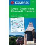 2080. Sumava Zeleznorudsko Böhmerwald-Eisenstein turista térkép Kompass 1:50 000
