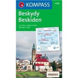 2089. Beskydy turista térkép Kompass Beskiden 1:50 000