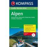 604. Alpen, Großer WanderAtlas mit CD túraatlasz Wanderatlanten