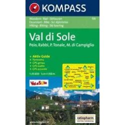 119. Val di Sole turista térkép Kompass 1:35 000