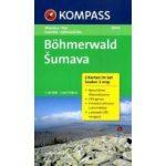 2000. Böhmerwald/Šumava, 2teiliges Set mit Naturführer turista térkép Kompass