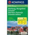 2802. Marburg, Murgebiet Drautal, Maribor turista térkép Kompass 1:75 000