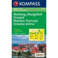 2802. Maribor turista térkép, Marburg, Maribor és környéke Kompass 1:75 000 Maribor térkép, Pomurje térkép