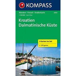 2900. Dalmát tengerpart térkép Kompass 1:100 000