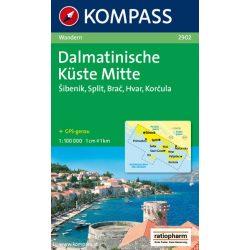 2902. Közép-Dalmácia térkép Kompass 1:100 000