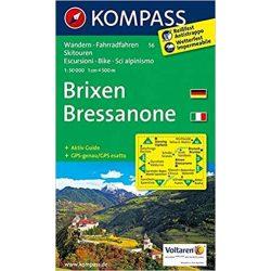 56. Brixen/Bressanone, D/I turista térkép Kompass