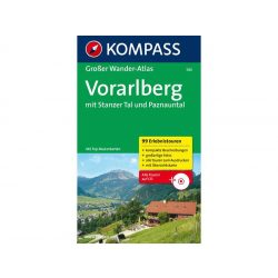 580. Vorarlberg, Großer WanderAtlas mit CD túraatlasz Wanderatlanten
