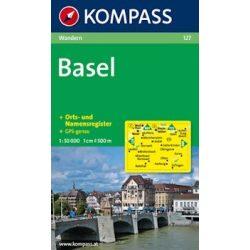 127. Basel turista térkép Kompass 1:50 000