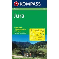 128. Jura turista térkép Kompass 1:50 000