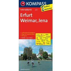 3077. Erfurt, Weimar, Jena kerékpáros térkép 1:70 000  Fahrradkarten