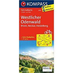 3090. Odenwald Westlicher, Rhein, Neckar, Heidelberg kerékpáros térkép 1:70 000  Fahrradkarten