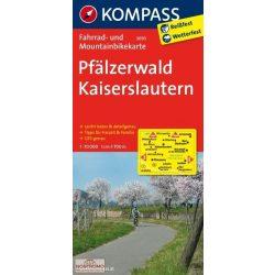 3093. Pfälzerwald, Kaiserslautern kerékpáros térkép 1:70 000  Fahrradkarten