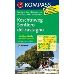 696. Keschtnweg Sentiero del castagno turista térkép Kompass 1:25 000
