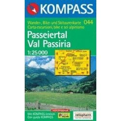 044. Passeiertal, Val Passiria turista térkép Kompass 1:35 000