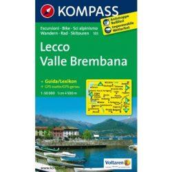 105. Lecco, Valle Brembana turista térkép Kompass