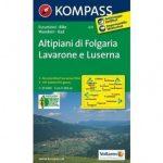 631. Altipiani di Folgaria-Lavarone e Luserno turista térkép Kompass 1:25 000