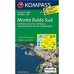 692. Monte Baldo süd turista térkép Kompass 1:25 000