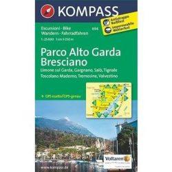 694. Parco Alto Garda Bresciano, 1:25 000 turista térkép Kompass
