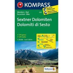 625. Sextener Dolomiten turista térkép Kompass 1:25 000