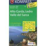 096. Alto Garda, Ledro, Valle del Sarca, 1:25 000, D/I turista térkép Kompass