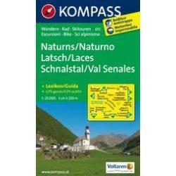 051. Naturns, Naturno-Latsch, Laces-Schnalstal, Val Senales turista térkép Kompass 1:25 000