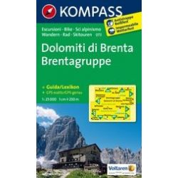 073. Dolomiti di Brenta turista térkép Kompass 1:25 000