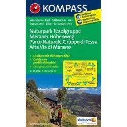 043. Naturpark Texelgruppe-Meraner Höhenweg turista térkép Kompass 1:25 000