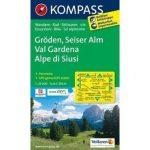 076. Gröden, Seiser Alm, 1:25 000 turista térkép Kompass
