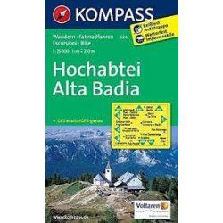 624. Hochabtei/Alta Badia, 1:25 000 turista térkép Kompass