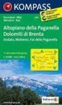 649. Altopiano della Paganella, Dolomiti di Brenta, 1:25 000 turista térkép Kompass
