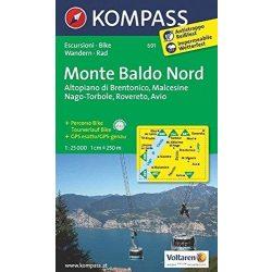691. Monte Baldo Nord turista térkép Kompass 1:25 000