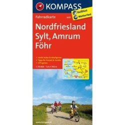 3001. Nordfriesland, Sylt, Amrum, Föhr kerékpáros térkép 1:70 000  Fahrradkarten