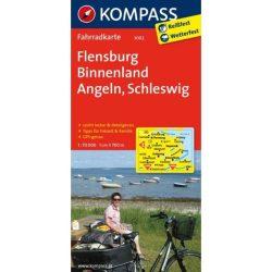 3002. Flensburg, Binnenland, Angeln, Schleswig kerékpáros térkép 1:70 000  Fahrradkarten