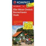 3006. ElbeWeserDreieck, Bremerhaven, Stade kerékpáros térkép 1:70 000  Fahrradkarten