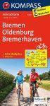 3009. Bremen, Oldenburg, Bremerhaven kerékpáros térkép 1:70 000  Fahrradkarten