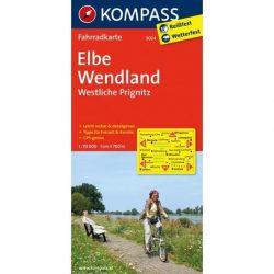 3024. Elbe Wendland radweg Westliche Prignitz kerékpáros térkép Kompass 1:70 000
